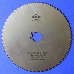 EDESSÖ Chrom-Vanadium-Kreissägeblatt C-NV Feinstzahn blank – Ø 150 mm, Bohrung 19 mm (3/4'')