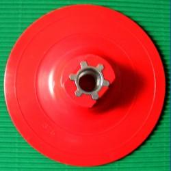 rictools Stützteller mit Klett Standard WS Ø 115 mm rot