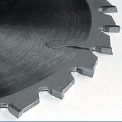 PRÄZISA Jännsch Hartmetall-Kreissägeblatt  für Kapp- und Gehrungssägen, Type W Wechselzahn negativ mittel – Ø 205 mm, Bohrung 18