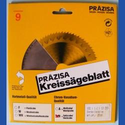 PRÄZISA Jännsch Chrom-Vanadium Kreissägeblatt Type B Feinzahn – Ø 132 mm, Bohrung 13 mm