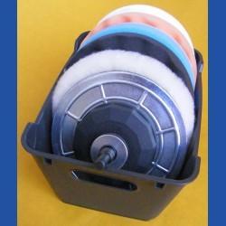 rictools Flexoplan-Polier-Set im Kunststoff-Korb