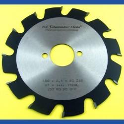 H.O. Schumacher+Sohn Hartmetallbestücktes Kreissägeblatt Standard Grobzahn – Ø 150 mm, Bohrung 30 mm
