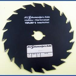 H.O. Schumacher+Sohn Hartmetallbestücktes Kreissägeblatt Hobby Feinzahn antihaftbeschichtet – Ø 151 mm, Bohrung 19 mm (3/4'')