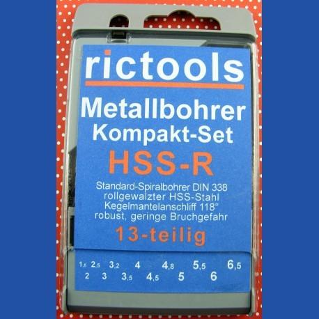 rictools Metallbohrer HSS-R Kompakt-Set