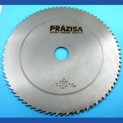 PRÄZISA Jännsch Chrom-Vanadium Kreissägeblatt Type B Feinzahn – Ø 250 mm, Bohrung 30 mm