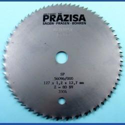 PRÄZISA Jännsch Chrom-Vanadium Kreissägeblatt Type B Feinzahn – Ø 127 mm, Bohrung 12,7 mm (1/2'')