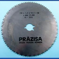 PRÄZISA Jännsch Chrom-Vanadium Kreissägeblatt Type B Feinzahn – Ø 150 mm, Bohrung 19 mm (3/4'')