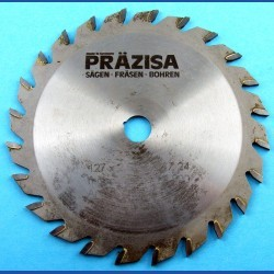 PRÄZISA Jännsch Hartmetall-Kreissägeblatt Type W Wechselzahn mittel – Ø 127 mm (5''), Bohrung 12,7 mm (1/2'')