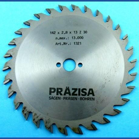 PRÄZISA Jännsch Hartmetall-Kreissägeblatt Type W Wechselzahn mittel – Ø 142 mm, Bohrung 13 mm