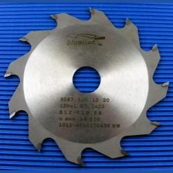blueline by AKE Handkreissägeblatt HW Wechselzahn grob schmal für Sägen von Mafell – Ø 120 mm, Bohrung 20 mm