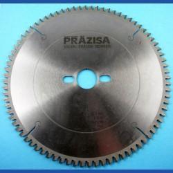 PRÄZISA Jännsch HM-Kreissägeblatt  f. Kapp- und Gehrungssägen, Type WH+ Wechselzahn negativ extra fein – Ø 250 mm, Bohrung 30 mm