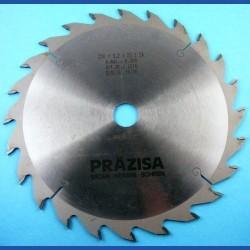 PRÄZISA Jännsch Hartmetall-Kreissägeblatt Type W Wechselzahn grob – Ø 250 mm, Bohrung 25 mm