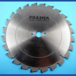 PRÄZISA Jännsch Hartmetall-Kreissägeblatt  für Kapp- und Gehrungssägen, Type F Flachzahn negativ grob – Ø 250 mm, Bohrung 20 mm