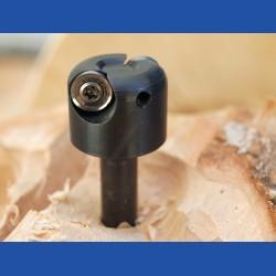 Kaindl Multi-Carver Fräsaufsatz – mit 2 runden 10 mm Hartmetallwendeplatten