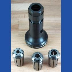 Kaindl Multi-Shaft Werkzeugaufnahme für Einhand-Winkelschleifer – mit 3 Spannzangen Ø 6, 8 und 10 mm