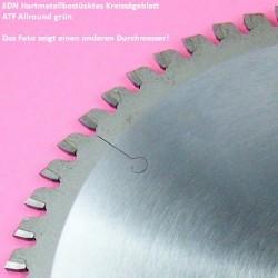 EDN Hartmetallbestücktes Kreissägeblatt ATF Allround grün extra dünn für Akkusägen – Ø 136 mm, Bohrung 20 mm