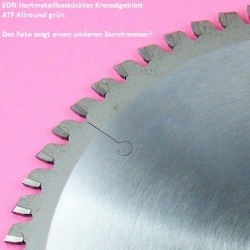 EDN Hartmetallbestücktes Kreissägeblatt ATF Allround grün – Ø 170 mm, Bohrung 16 mm
