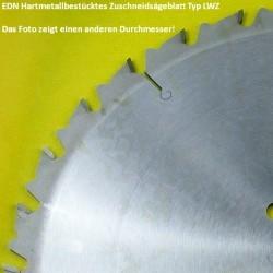 EDN Hartmetallbestücktes Zuschneidsägeblatt Typ LWZ – Ø 600 mm, Bohrung 30 mm