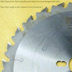 EDN Superline Hartmetallbestücktes Zuschneidsägeblatt LWS – Ø 400 mm, Bohrung 30 mm