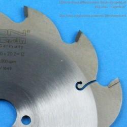 EDN Hartmetallbestücktes Baukreissägeblatt BFA blau ''nagelfest'' – Ø 170 mm, Bohrung 20 mm