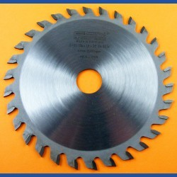 EDN Hartmetallbestücktes Kreissägeblatt Serie 05 orange Wechselzahn sehr fein extra dünn für Akkusägen – Ø 136 mm, Bohrung 20 mm