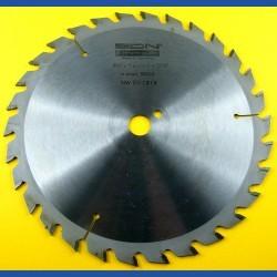 EDN Hartmetallbestücktes Kreissägeblatt Serie 05 gelb Wechselzahn mittel – Ø 200 mm, Bohrung 16 mm