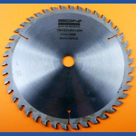 EDN Hartmetallbestücktes Kreissägeblatt Serie 05 orange Wechselzahn fein – Ø 205 mm, Bohrung 18 mm