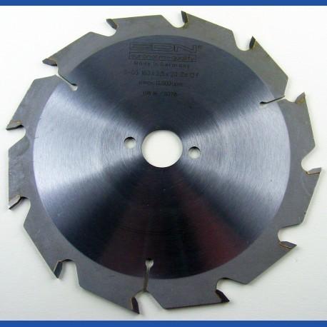 EDN Hartmetallbestücktes Kreissägeblatt Serie 05 weiß Flachzahn grob – Ø 160 mm, Bohrung 20 mm