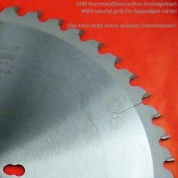 EDN Hartmetallbestücktes Kreissägeblatt WKN spezial gelb für Kappsägen mittel – Ø 216 mm, Bohrung 30 mm