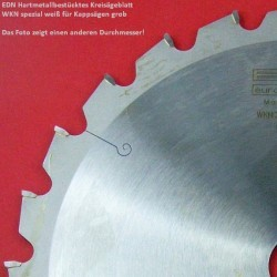 EDN Hartmetallbestücktes Kreissägeblatt WKN spezial für Kappsägen grob – Ø 260 mm, Bohrung 30 mm