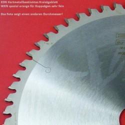 EDN Hartmetallbestücktes Kreissägeblatt WKN spezial orange für Kappsägen sehr fein – Ø 216 mm, Bohrung 30 mm