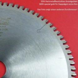 EDN Hartmetallbestücktes Kreissägeblatt WKN spezial für Kappsägen extra fein – Ø 260 mm, Bohrung 30 mm