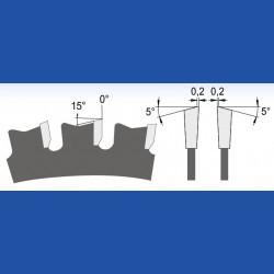 blueline by AKE Dry-Cut-Kreissägeblatt HW – Ø 160 mm, Bohrung 20 mm