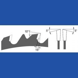blueline by AKE Zuschnittkreissägeblatt HW Wechselzahn grob – Ø 500 mm, Bohrung 30 mm