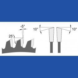 blueline by AKE Kappkreissägeblatt HW Wechselzahn fein schmal – Ø 190 mm, Bohrung 20 mm