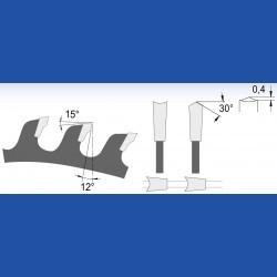 blueline by AKE Holzwerkstoffkreissägeblatt Hohlzahn fein – Ø 350 mm, Bohrung 30 mm