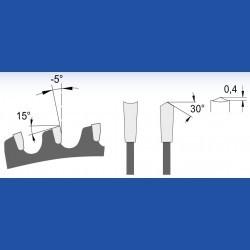 blueline by AKE Holzwerkstoffkreissägeblatt Hohlzahn positiv fein – Ø 350 mm, Bohrung 30 mm