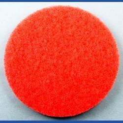 rictools Haft-Reinigungsvlies – Ø 125 mm, rot, mittel, nicht abrasiv