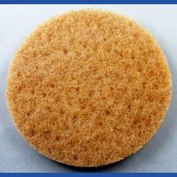 rictools Haft-Reinigungsvlies – Ø 125 mm, beige, weich, nicht abrasiv