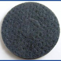 rictools Haft-Reinigungsvlies – Ø 150 mm, schwarz, sehr hart, abrasiv