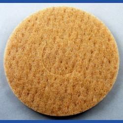 rictools Haft-Reinigungsvlies – Ø 150 mm, beige, weich, nicht abrasiv