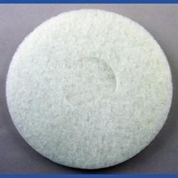 rictools Haft-Reinigungsvlies – Ø 150 mm, weiss, sehr weich, nicht abrasiv