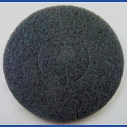 rictools Haft-Reinigungsvlies – Ø 200 mm, schwarz, sehr hart, abrasiv