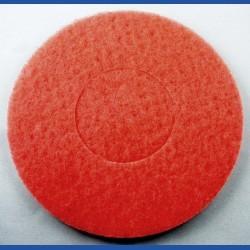 rictools Haft-Reinigungsvlies – Ø 200 mm, rot, mittel, nicht abrasiv