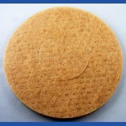 rictools Haft-Reinigungsvlies – Ø 200 mm, beige, weich, nicht abrasiv