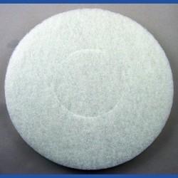 rictools Haft-Reinigungsvlies – Ø 200 mm, weiss, sehr weich, nicht abrasiv