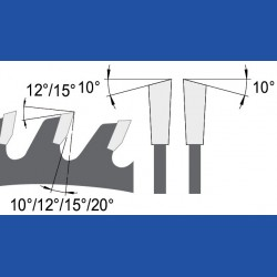AKE blueline Handkreissägeblatt HW Wechselzahn mittel schmal für Sägen von Mafell, Ø 180 mm, Bohrung 30 mm