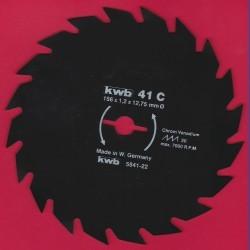 kwb Brennholzblatt Typ C Chrom Vanadium grob antihaftbeschichtet – Ø 156 mm, Bohrung 12,75 mm (1/2'')
