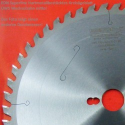 EDN Superline Hartmetallbestücktes Kreissägeblatt UWS Wechselzahn mittel – Ø 250 mm, Bohrung 30 mm