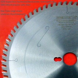 EDN Superline Hartmetallbestücktes Kreissägeblatt KWS Wechselzahn sehr fein – Ø 250 mm, Bohrung 30 mm